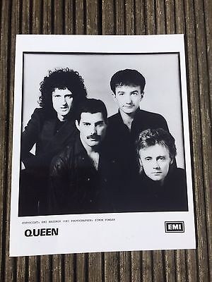 Queen original press publicity photo Freddie Mercury, Brian May