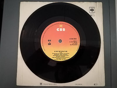 "U2 A day without me 7"" CBS Irish 1st pressing UKTM original pic sleeve"