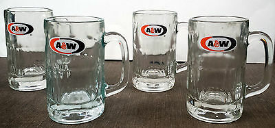 Set of 4 A & W Root Beer Mugs HEAVY 2Lbs 10 Ounces Each - EXCELLENT CONDITION!