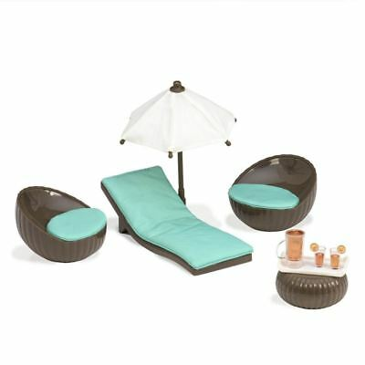Lori by OG Rooftop Patio Set for Doll House, 6-Inch