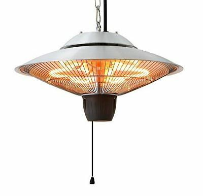 Ener-G+ Infrared Indoor/Outdoor Ceiling Electric Patio Heater, Silver