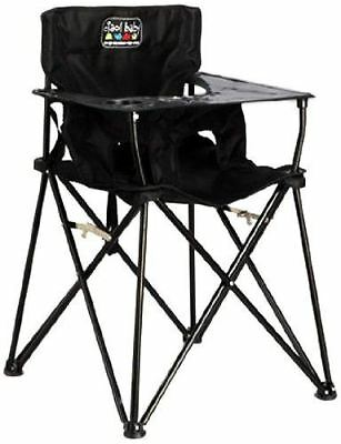Ciao!Baby Portable High Chair, Black, 1 Pack