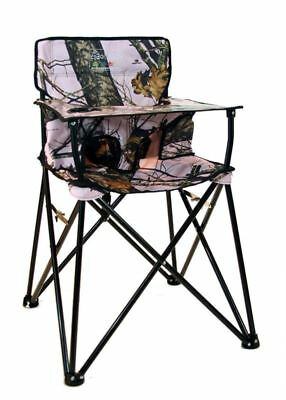 ciao! Baby Portable High Chair, Pink Mossy Oak with Carrying Case