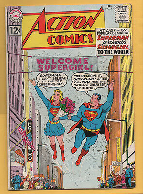 Action Comics #285 DC Comics 1962 Supergirl Origin, JFK Appearance VG+