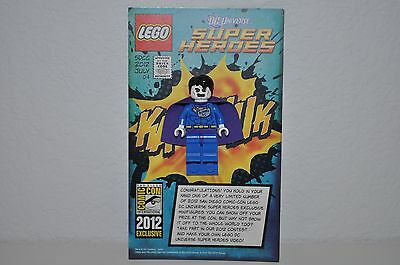 Lego Sdcc Comic Con 2012 Exclusive  Bizarro Minifigure Dc Marvel New W/ Card