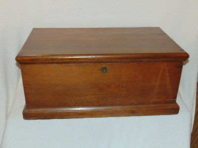 Antique Mission Oak Tool Chest Trunk Box Repurposed Coffee Table