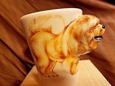 New Chow Chow Coffee Mug Cup 3 D Dog Blue Witch Hand Painted
