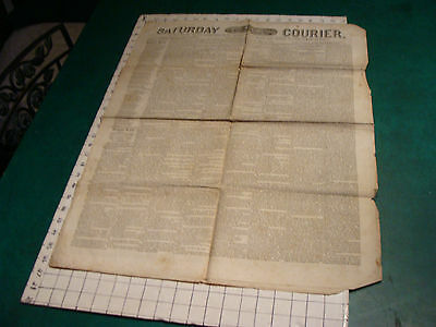 vintage Original Newspaper: SATURDAY COURIER Philadelphia JULY 24, 1841