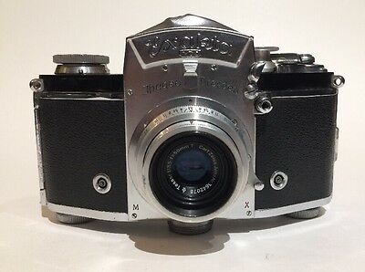 IHAGEE EXAKTA VX USSR OCCUPIED 35mm Film Camera Carl Zeiss Jena 50mm f/3.5 Lens