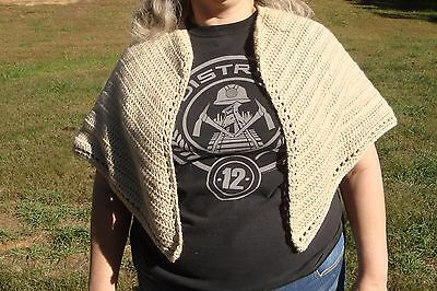 Tan Over the Shoulder Shawl