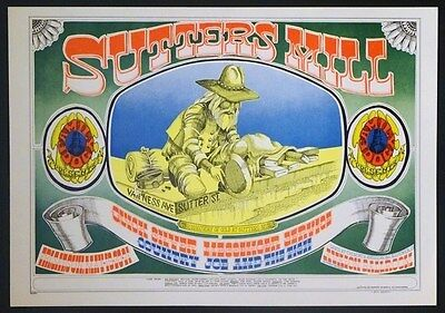 "FD 62 ""Sutter's Mill"" Rick Griffin 1967 Avalon Poster"