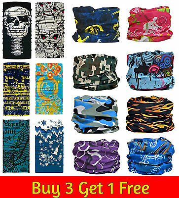 Full Function Face Warmer Mask Neck Tube Scarf Biker Ski Snood Balaclava Bandana