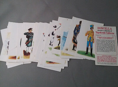 1980 Player's Doncella Napoleonic Uniforms Tobacco  card set