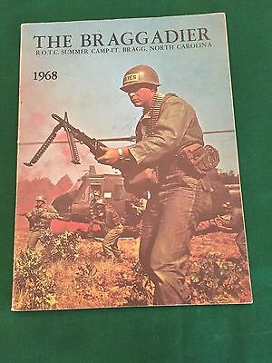 1968 US Army ROTC Summer Camp Fort Bragg Training Center yearbook The Braggadier