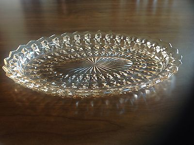 Jeannette Holiday Button and Bows Oval Platter Iridescent