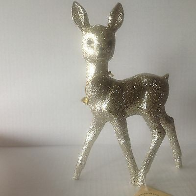 Ino Schaller Bayern Christmas Figure glitter Deer new with Tag