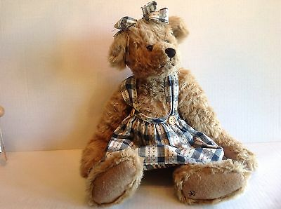 """Ganz Cottage Collectibles Bear EMILY LOU CC316 1997 Christy Rave 19"""" Tall"""