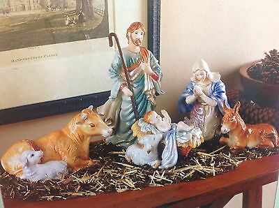 Fitz and Floyd Nativity 5 Piece Set NIB