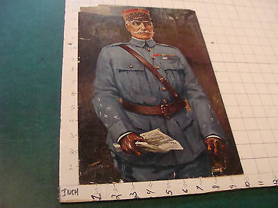 VINTAGE PRINT: 1918 textured print of ENGLISH GENERAL some wear CARL LOTIVE