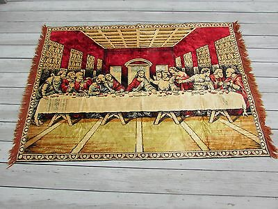 Vintage Last Supper Large Tapestry Wall Hanging Rug 48x70