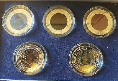 2008 & 2009 British Virgin Island Olympic Set Bi Metal Silver & Titanium