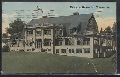 Postcard FT FORT WAYNE Indiana/IN  New Golf Course Country Club House 1907