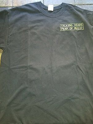 Talking Heads Fear of Music Black T-Shirt Size X Large