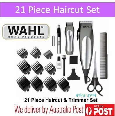 Wahl Hair Clippers Mens Haircut Set Trimmer Beard Shaver Nose Cordless Electric