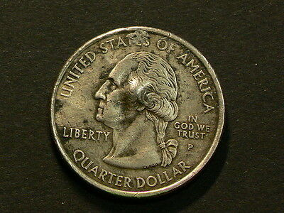 US 2002 Tennessee Quarter 25 Cents, Gas Buble On Both Sides, Error #6488