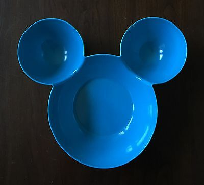 """MICKEY MOUSE Head Shaped Large 12"""" Bowl Disney Minnie Mouse Tray"""