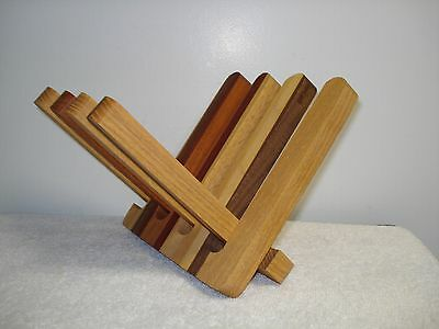 VTG INLAID WOOD Display Stand Folding Book Bible Holdercookbook Amazing Bible Display Stand