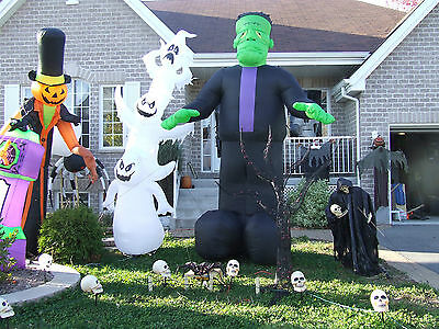 Halloween Giant Ghost Stack Of 12 Feet Inflatable Airblown  Gemmy