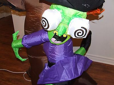 Halloween Crush Witch On A Tree  6.5 Tall  Inflatable Airblown  Gemmy