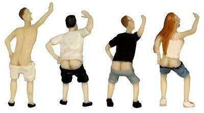 4 MOONING Figures very Cheeky realistical painted People HO 1/87 scale BLMA 4900