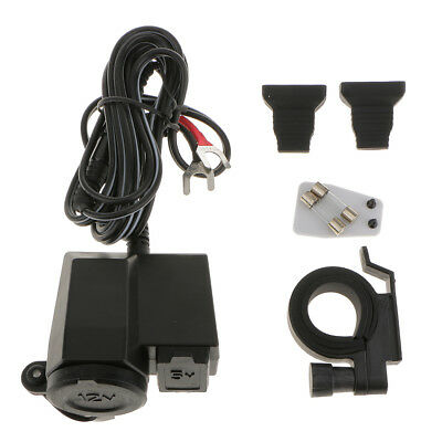 Motorcycle 12V Cigarette Lighter Power Outlet Socket USB Port Integration