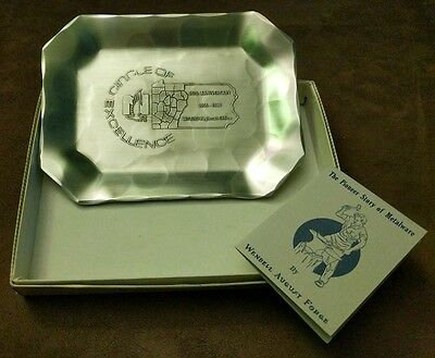 1955-1980 Nationwide Insurance Wparo 25Th Anniversary Wendell August Forge Dish