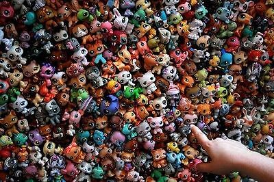 Lovely MINI Doll Lot 20PCS Littlest Pet Shop Dog Loose Child Girl Toys LPS Gift