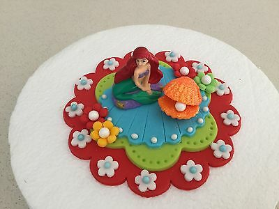 Edible Ariel Little Mermaid cake cupcake Fondant icing decoration topper