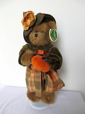 "The Bearington Collection Collectible Series Push Bear ""Autumn Harvester"" w/Tags"
