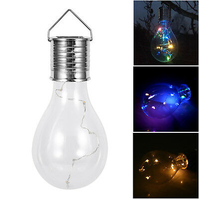5 LED Solar Panel Powered Bulb Light Outdoor Garden Yard Hanging Decoration Lamp
