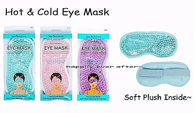 Gel Eye Mask - Hot & Cold Relief, Therapeutic Gel filled Beads- Stress Relief