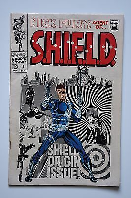 Nick Fury, Agent of SHIELD #4 (Sep 1968, Marvel) Fine 6.0