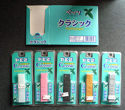 PEZ Japanese Regular Dispensers Complete Set Of 5 with Box