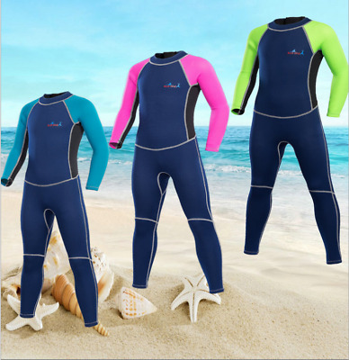 New Boy Girl Kid Children 2mm Dive Suit Surfing Scuba Full Body Diving Wetsuits