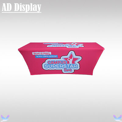 6ft Spandex Trade Show Table Cloth/Table Cover Four Sides Full Color Printing