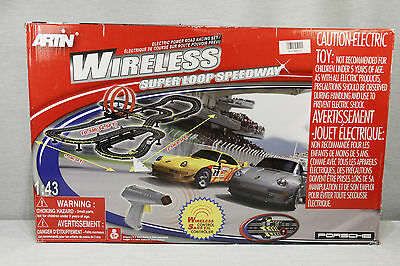 New ARTIN 1:43 Scale WIRELESS SLOT CARS Super Loop Speedway PORSCHE, 34.5' Track