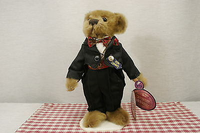 Brass Button Bears DEX 2000 Millennium Fully Jointed, Tuxedo, All tags, Mint. N1