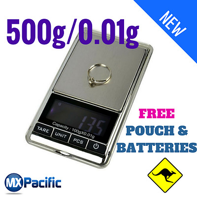 500g 0.01g DIGITAL POCKET SCALES JEWELLERY PRECISION ELECTRONIC WEIGHT