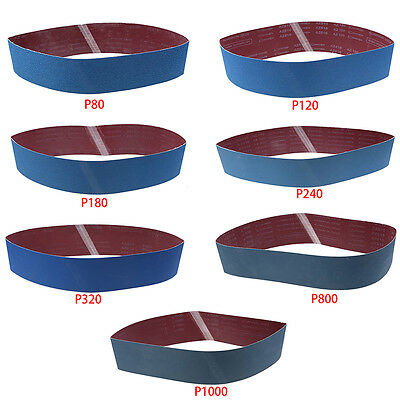 3/5pcs 100 x 915mm Sanding Belts Zirconia Metal Grinding 180 800 Grit Power Tool