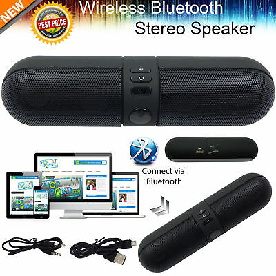 Portable Shockproof FM Stereo Wireless Bluetooth Speaker For Tablet Phone New